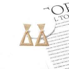 ZA New Arrive Triangular Earrings 2019 Statement Hanging Metal Drop Hot Style Pendientes Jewelry For Women Girls Gift