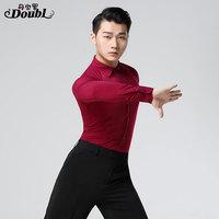 Latin dance costumse long sleeves latin dance tops for men shirts latin dancing jackets S XXXL