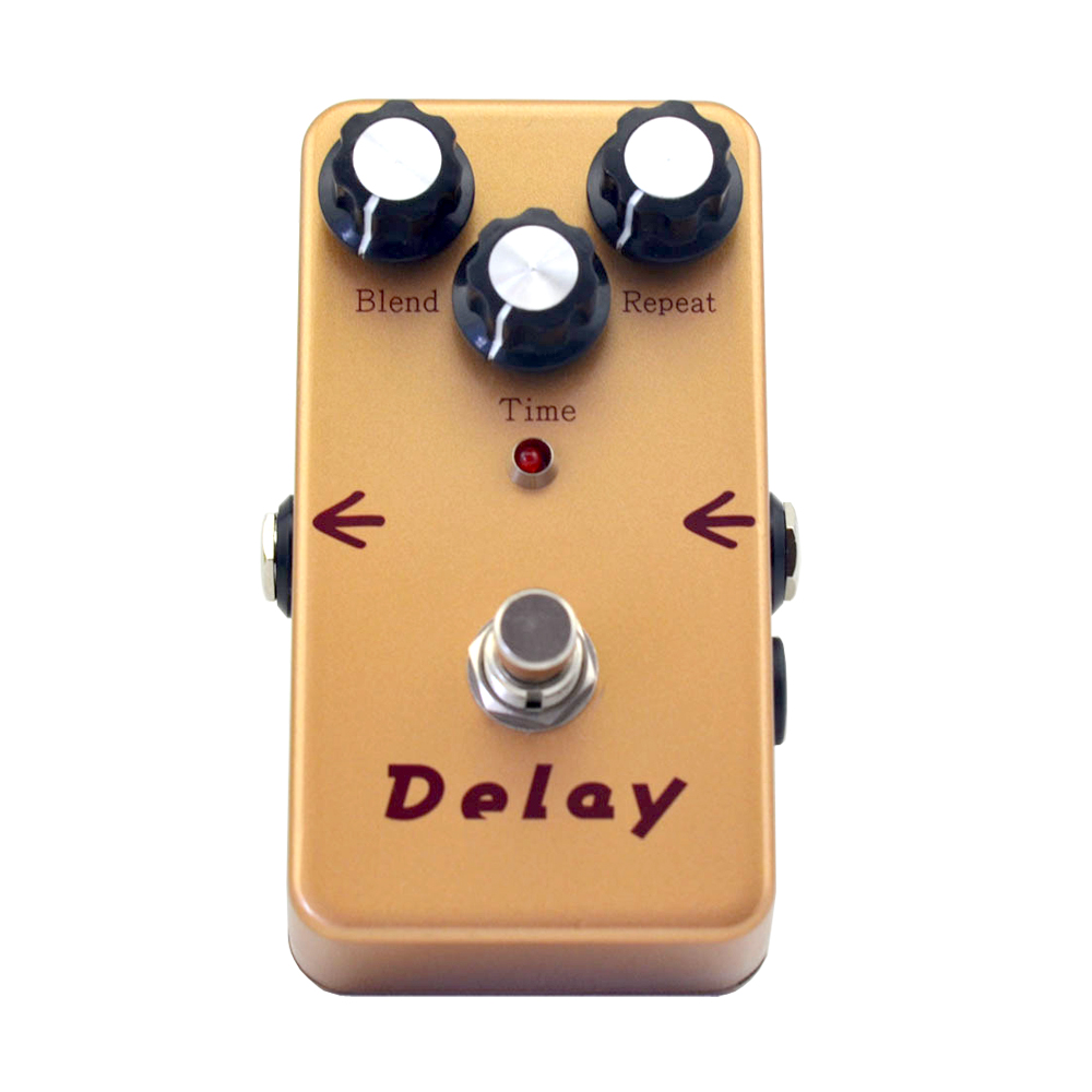 Delay Guitar Effect Pedal Smooth Analog Delay Sound Effect Gold 440ms delay guitar pedal True Bypass +FREE SHIPPING free shipping new guitar effect pedal mooer ana echo analog delay pedal pedal true bypass