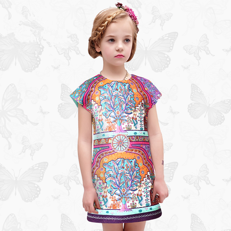 Toddler Girls Dresses Children Clothing 2017 Brand Princess Dress for Girls Clothes Fish Print Kids Beading Dress 1 8 toddler girls dresses children clothing 2017 brand princess dress for girls clothes fish print kids beading dress 1 13