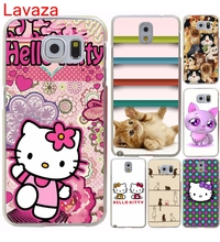 Lavaza Hello kitty estilo de la flor blanco duro Hard Transparent for Galaxy S4 S5 & Mini S6 S7 S8 edge S6 Edge Plus