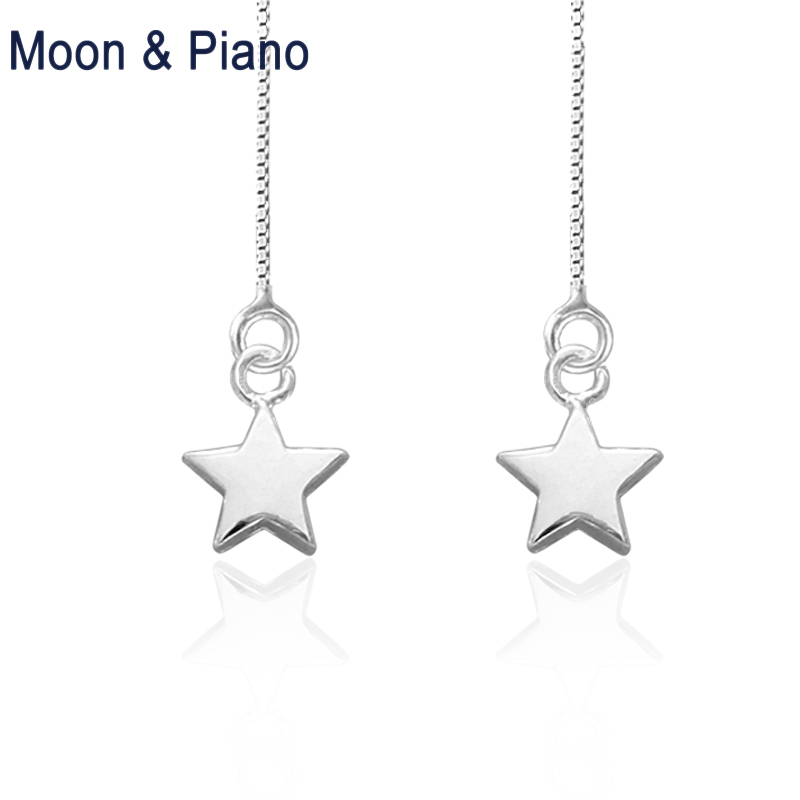 925 Sterling Silver Stars Drop Earrings Beautiful Birthday Gift For Lady Go To Party High Quality Classic Star Free Shipping