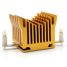 2pcs LED IC Golden Heat sink For Chip CPU Computer North Bridge Cooling Heatsink free shipping cpu e52186 n455 new computer notebook cpu chip page 5