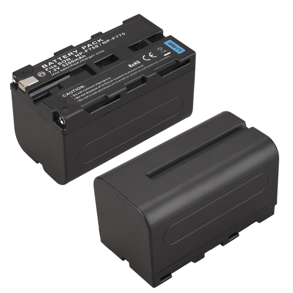 5200mAh High Capacity NP-F770 NP-F750 NP F770 np f750 NPF770 750 Battery for Sony NP-F550 NP-F770 NP-F750 F960 F970 goldfox np f770 5200mah replacement digital camera batteria for sony np f750 np f770 high capacity battery