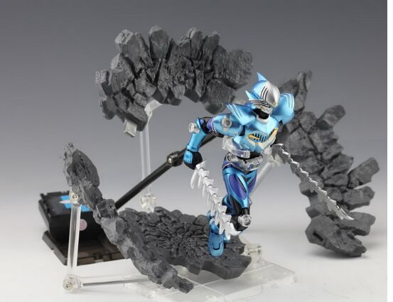 Image 2 - Special Effect Impact burst rock shock crack for Kamen Rider 1/12 1/10 figure toy model Accessoriesfigure toytoy modelmodel toy -