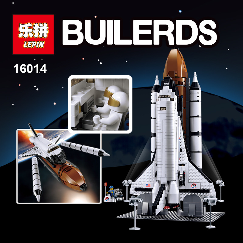 LEPIN 16014 Space Shuttle Expedition Model Building Kit Block 1230Pcs Bricks Toys Compatible With Lepin 10231 lepin 22001 pirate ship imperial warships model building block briks toys gift 1717pcs compatible legoed 10210