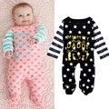 Novo 2016 moda bebê menino roupas de manga longa macacão de bebê recém-nascido roupas de algodão bebê menina macacão roupa infantil