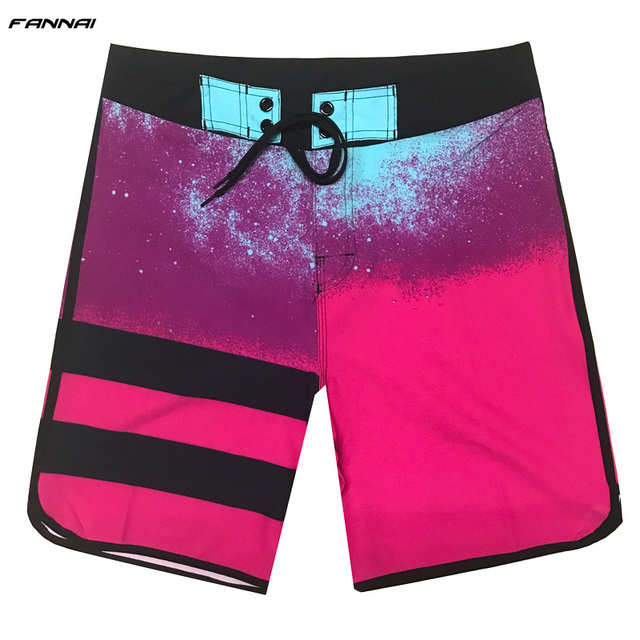 Men's Board Shorts Surf Swimwear Beach High Elastic Swimming Trunks Beach Shorts Beachwear Sports Shorts Male Swimsuit Trunks