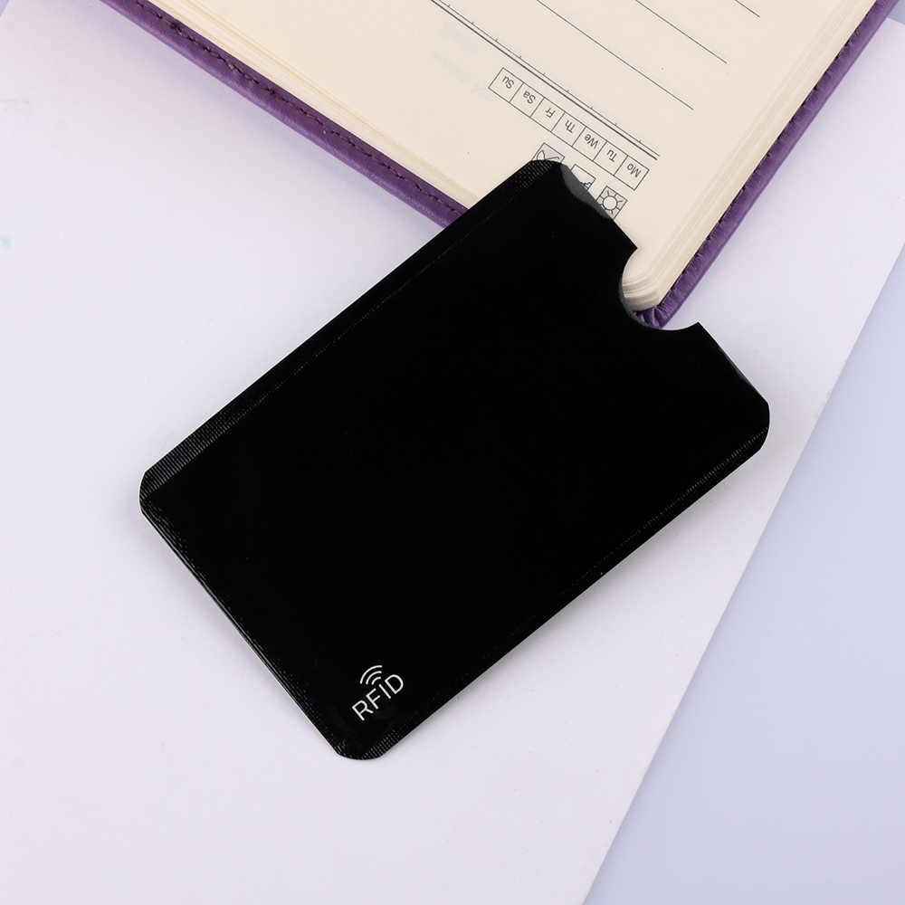 5 шт./упак. кредитной держатель для карт протектор Блокировка Чехол банковской карты защитный чехол крышка алюминия Smart безопасности Защита от кражи RFID Бумажник
