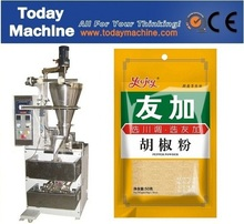 powder bag filing and packing machine with auger filler for washing powder/flour/coffee, by film/paper roll цена в Москве и Питере