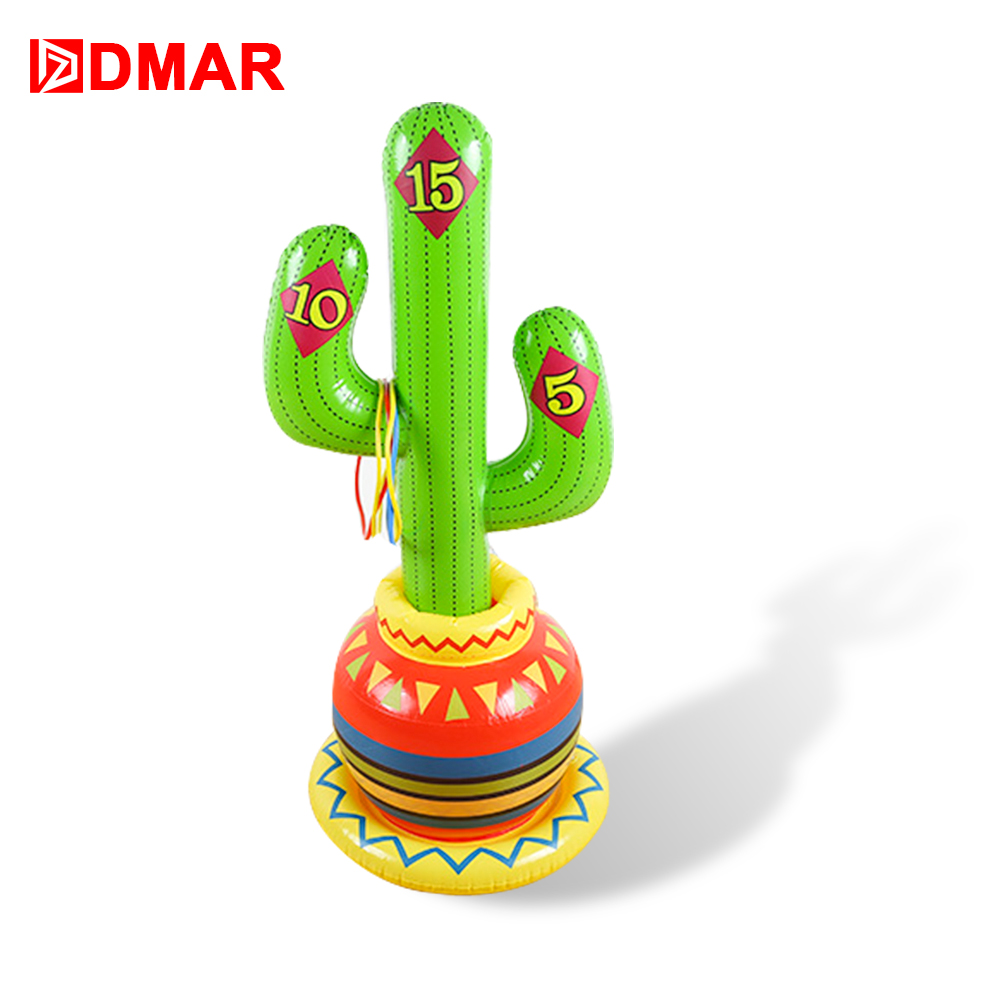 DMAR 90cm Inflatable Cactus Pool Float Water Toys Throw Game Swimming Ring Mattress Sea Beach Party Prop Kid Adult