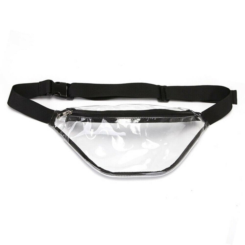 2019 New Women Simple Clear Transparent Waist Pack Fashion PVC Fanny Pack Women Belt Bum Bags