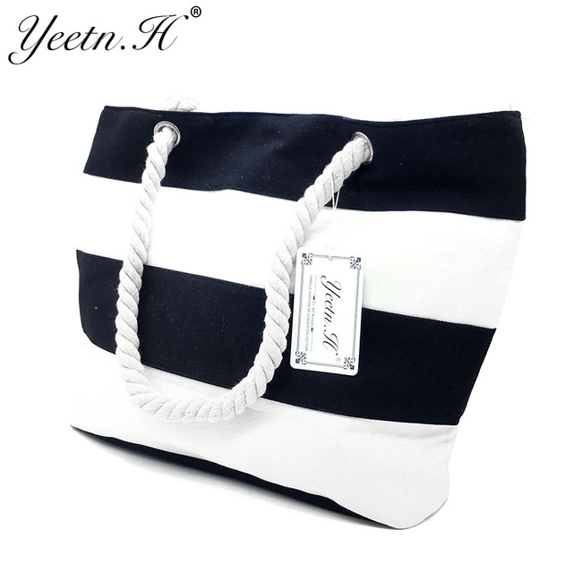Quality Women's Top-Handle Bag Canvas Handbags Fashion Large Beach Bags Shoulder Bag 1