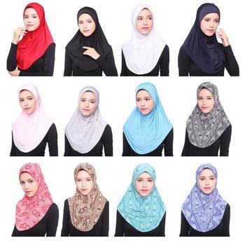 Newest Muslim Women's Head Scarf Underscarf Hijab Cover Headwrap