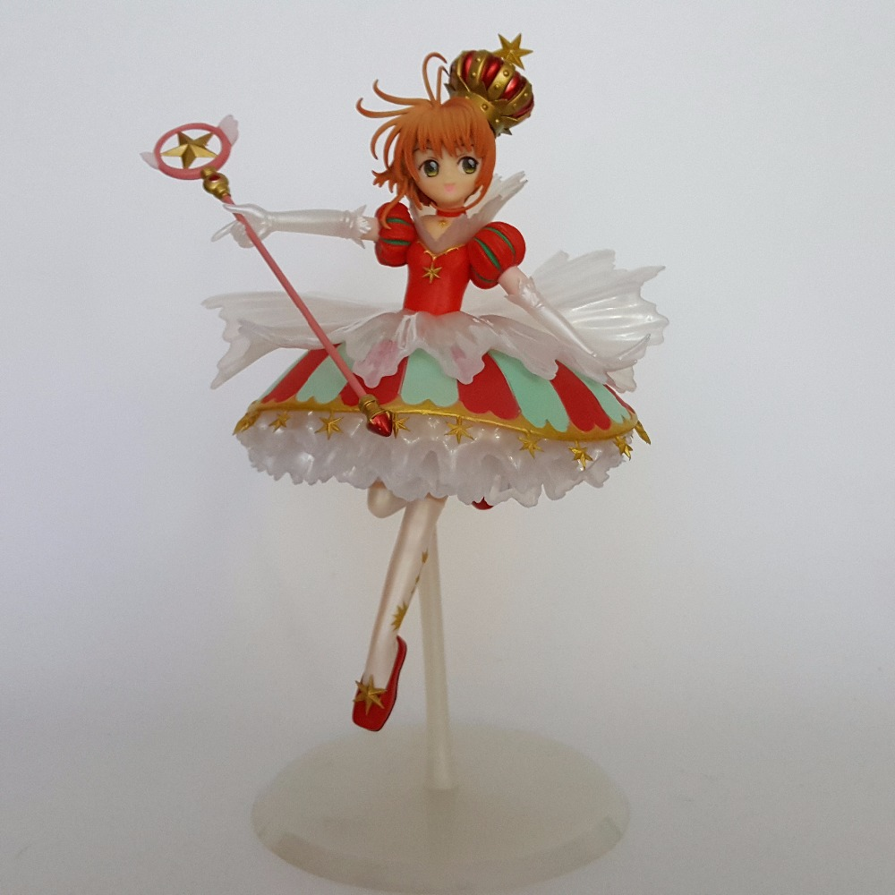 Sakura Card Captor Action Figures 15th anniversary Anime Cardcaptor Magic Girl Sakura 250mm Collectible Model Toys
