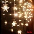 5 М Х 60 СМ СВЕТОДИОДНЫЕ Свадьба Свет сосулька Свет Рождества СВЕТОДИОДНЫЕ Строки Фея Свет Лампы Гирлянда День Рождения Сад занавес Декор 220 В
