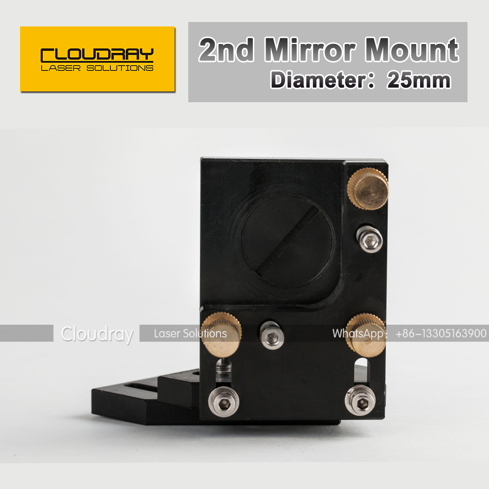 Co2 Laser Second Reflection Mirror Mount 25mm Support Integrative Holder for Laser Engraving Cutting Machine