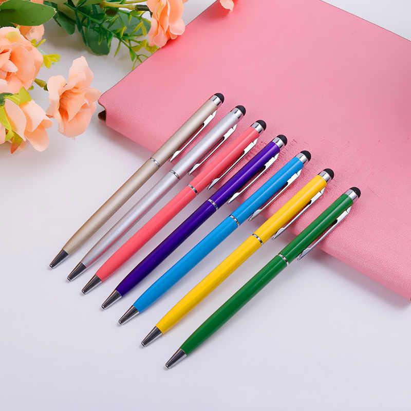 2 ב 1 Tablet מגע קיבולי Stylus עט כדוריים עט מיקרופייבר טלפון סלולרי מסך מגע עט עבור iphone עבור מחשב נייד של סמסונג