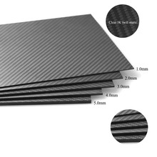 HCF006  2pcs 2.0X400X500mm 100% Carbon Fiber Twill Matte Sheet