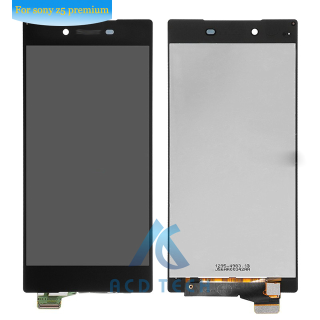 For Sony Xperia Z5 Premium Black Z5P Z5 Plus E6853 E6883 LCD Screen and Digitizer 4K Assembly Replacement