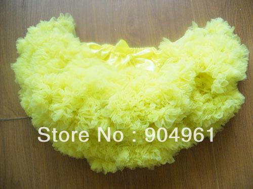 Comercio al por mayor niñas falda tutú mullido suave y encantador de cumpleaños niñas falda 10 unids/lote