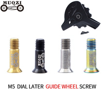2PCS Bicycle Bike M5 Screws Bolts Cycling Rear Derailleur Guide Wheel M5*16MM  Titanium Alloy Accessories
