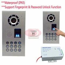 IP65 Fingerprint/Code Video Phone Intercom Doorbell Camera Video Intercom CCD Camera 700lines+12V Access Control Power Supply