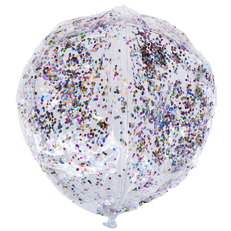 Beach Ball Round Inflatable Sequins Inside Children Bling Transparent Swimming Ball Toys Swimming Pool Floating Toy