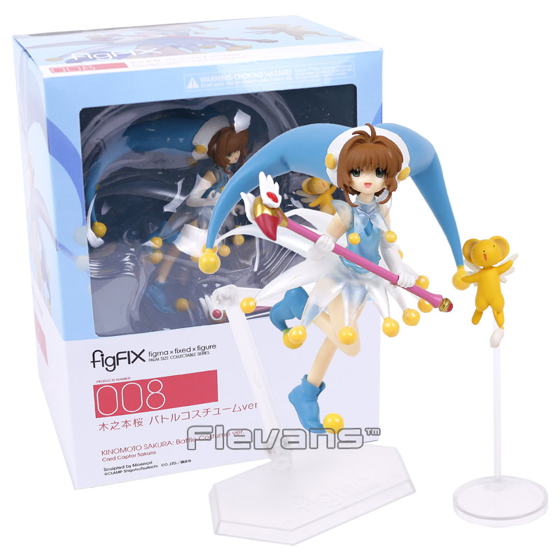 Card Captor Sakura figFIX 008 Kinomoto Sakura: Battle Costume ver. PVC Action Figure Collectible Model Toy nendoroid card captor sakura li syaoran 763 kinomoto sakura 400 pvc action figure collectible model toy doll