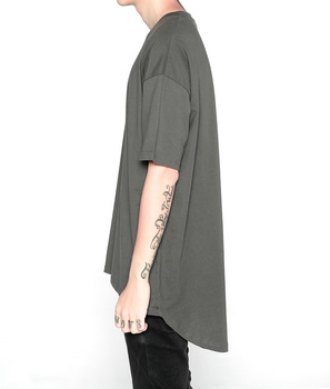 2017 New Fashion Top quality summer hiphop clothing extended oversized white t shirt men 100% cotton t-shirts hot selling