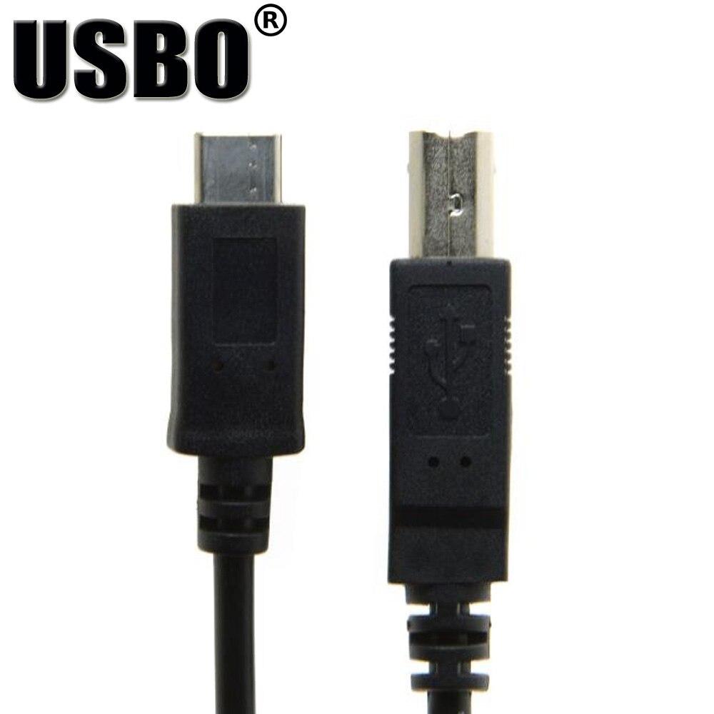 Питания черный 1.0 м USB3.1 TYPE-C к USB-B Дата линия высокоскоростной USB 3.1 мужчинами Кабель-адаптер с плетеной экранированный провод