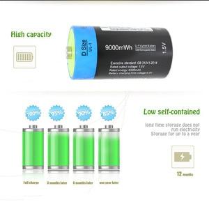 Image 5 - 4 個 1.5 v リチウムリチウムポリマー 9000mWh D サイズ充電式バッテリー D 型電池 + USB 充電ケーブル
