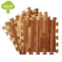 Eight Day Wood Grain 1x1 Feet Foam Mat PE Foam Mat Home Flooring Mats Soft Flooring