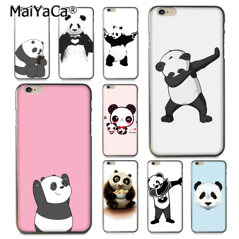 MaiYaCa cute lovely panda dab animal phone case Accessories cover For i