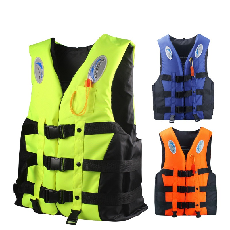 adult life jacket and Whistle men women fishing surfing swim boating sailing survival life vest kids CE SAFETY COMPLIANCE S-XXXL