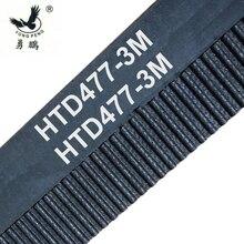 10 peças/pacote HTD3M correia dentada dentes 159 largura 10mm de comprimento 477mm de borracha closed loop 477 3M 10 Alta qualidade 477 HTD 3 M 10 CNC