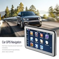 5 886 HD Car Truck GPS Navigation 256M+8GB Reversing Camera Touchscreen FM Navigator Accurately Position Black
