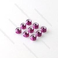 Free Shipping 100pcs Lot M3 Lock Nut Colored Aluminum Lock Nut With Nylon CW Lock Nut