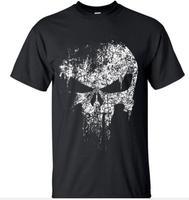 2016 Streetwear Punisher Skull Hip Hop Supper Hero T Shirt Tops Tees Top Brand Slim Clothing