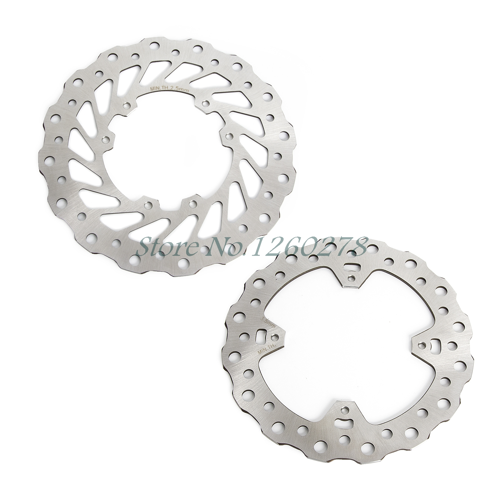 New Motorcycle Front & Rear Wave Disc Brake Rotor For CR125 CR250 02-07 CRF250R CRF250X CRF450R CRF450X mfs motor motorcycle part front rear brake discs rotor for yamaha yzf r6 2003 2004 2005 yzfr6 03 04 05 gold