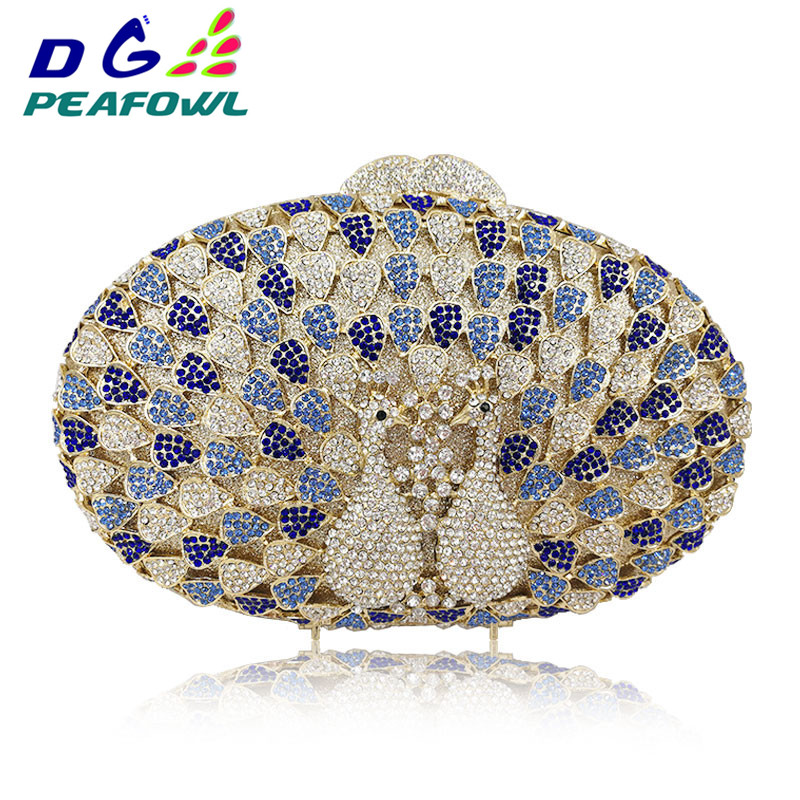 Pair Peacock Colorful Diamond Round Women Evening Bags Totes With Chains Shoulder Stuffed Animal Wedding Favour Bag Party WalletPair Peacock Colorful Diamond Round Women Evening Bags Totes With Chains Shoulder Stuffed Animal Wedding Favour Bag Party Wallet