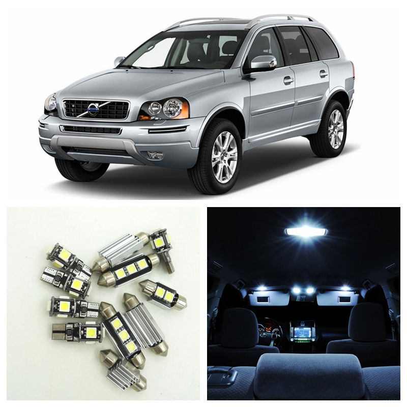 15pcs Super White Car Canbus LED Light Bulbs Interior Package Kit For 2012 2013 2014 Volvo XC90 Dome Trunk Door Footwell Lamp 2pcs 12v 31mm 36mm 39mm 41mm canbus led auto festoon light error free interior doom lamp car styling for volvo bmw audi benz