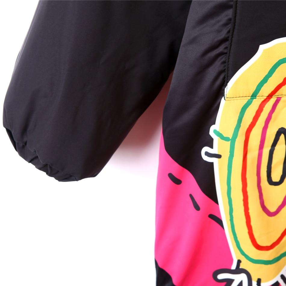 Winter Women's Jacket Zipper Hoodies Thick Warn Cartoon Printed Casual Coat for women Loose Harajuku Hip Hop Jackets