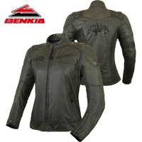 BENKIA Motorcycle Jacket Denim Jacket for Women Racing Jacket Motorcycle Moto Racing Vintga Jacket Female Moto Protection JS W17