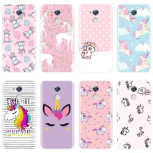 Pink Phone Case For Huawei Honor 4C 5C 6C 6A Pro Soft Cute Unicorn Painted Cover For Huawei Honor 4X 5A 5X 6 6X 5C Case Silicone(China)