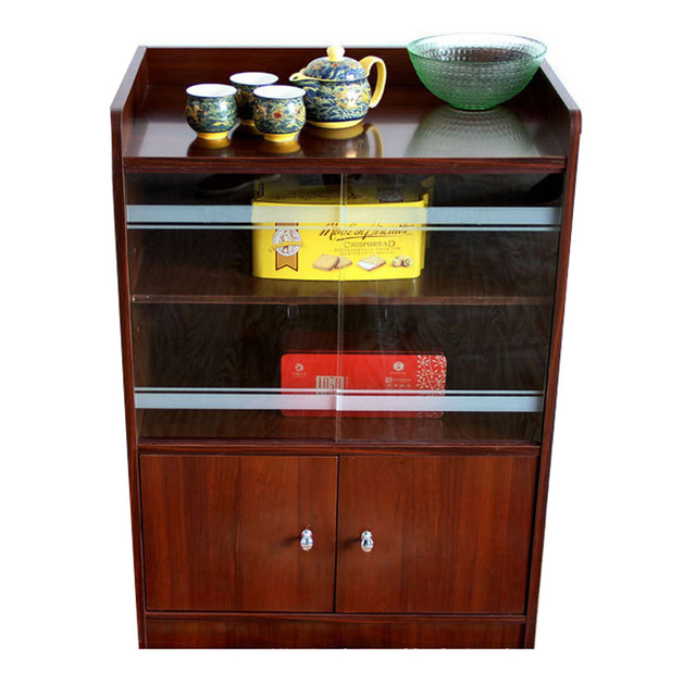Storage Small Living Room Dining Room Sideboard Tea Cabinet Glass