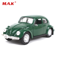 Green/Black High Simulation 1:24 Scale Beetle Classic Alloy Retro Classic Car Model Toys for Children Boys Fans Collection Gifts