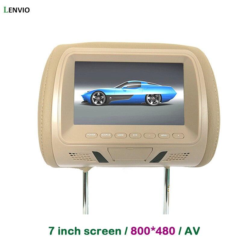 Lenvio Universal <b>7 inch</b> TFT LCD <b>screen</b> 800*480 <b>Car</b> Headrest ...