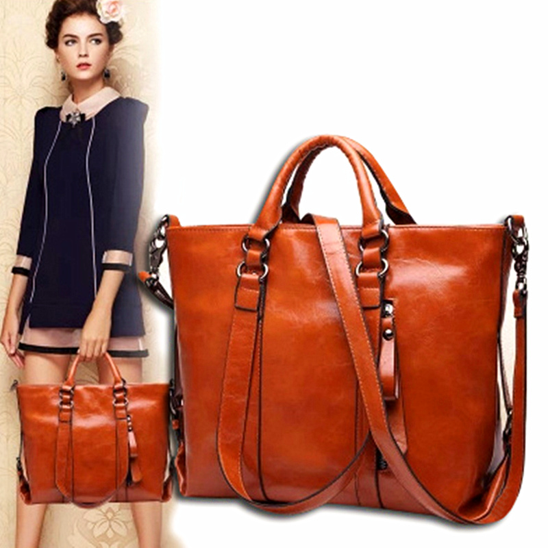 Women Bag Fashion Pu Leather 2017 New Trend Of Casual Retro Lady Shoulder Diagonal Large Capacity In Top Handle Bags From Luggage