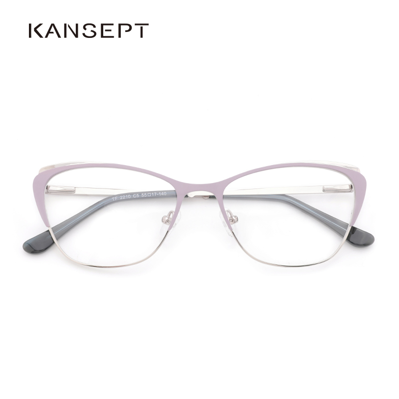 Metal Women Eyeglasses Frame Fashion Cat Eye Spectacles Prescription Glasses Frame Computer Eyeglasses Frame For Women#TF2210C5
